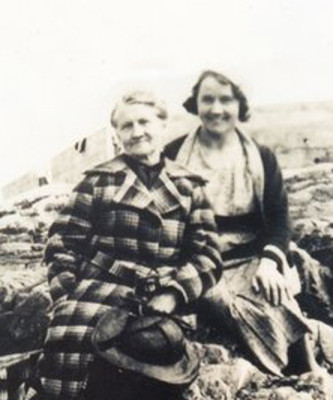 Mary Ellen Keogh - Stewart on her first vacation to Salt Hill in Galway, with her daughter Elizabeth.