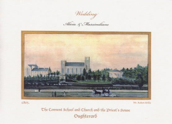 Watercolour of Convent by Dr. Robert Willis-Wellpark 1865