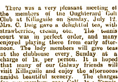 Oughterard Golf Club History