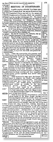 Oughterard Meeting. Freeman's Journal - November 15. 1897