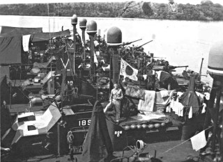 During World War II, American PT boats engaged enemy destroyers and numerous other surface craft, ranging from small boats to large supply ships. PT boats also operated as gunboats against enemy small craft, such as armored barges used by the Japanese forces for inter-island transport.
