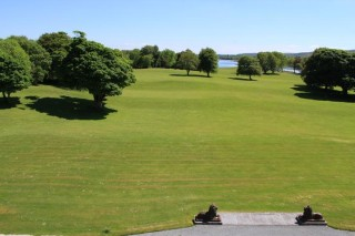 Expansive grounds of Ross Castle