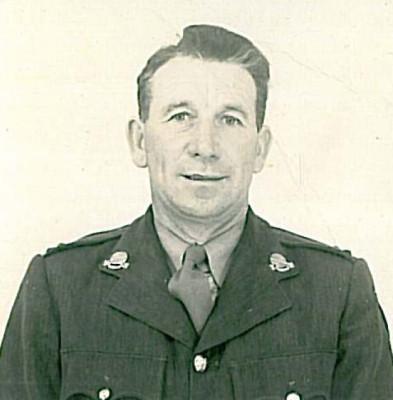 Lieutenant Paddy Darcy taken in 1945