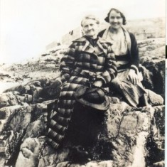 Elizabeth Stewart, born in 1909 in Rushvela came home to Outhergard and took her mother Mary Ellen Keogh - Stewart on her first vacation to Salt Hill in Galway