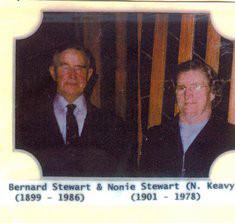 Bernard Stewart. B 1899. D. 1986. Nonie Stewart. B 1901. D.1987