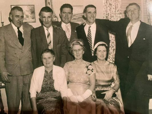 Patrick, Joseph, Tom, John and Martin. Mary, Barbara and Peg some years later in Massachusetts.