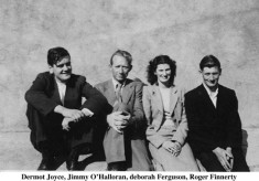 Dermot Joyce, Jimmie O'Halloran, Deborah Ferguson and Roger Finnerty