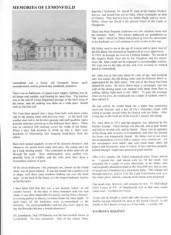 Oughterard Newsletter. Memories of Lemonfield House, by Kathleen Maloney