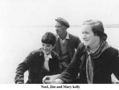 Noel, Jim and Mary Kelly, on Lough Corrib