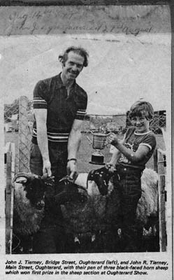 Press cutting. Oughterard Show. Paddy Tierney