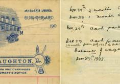 Receipt The Angler's Hotel 1932
