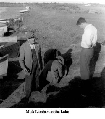 Mick Lambert at the lake