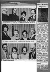 Press cutting 1976. Dinner dance. Rev. P.M. Molloy
