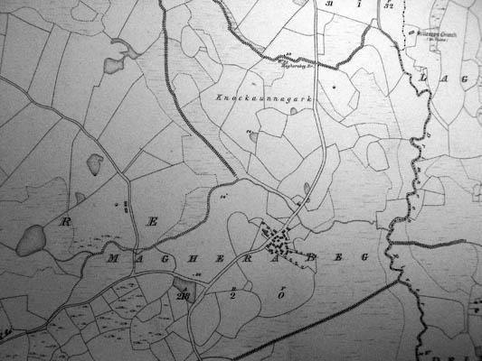 Map c.1800. Detail, Magherabeg