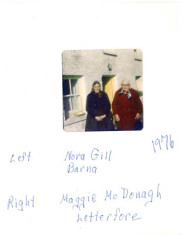 Nora Gill, Barna and Maggie McDonagh, Letterfore