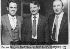 Press cutting. Eamon King, Mark Canavan and Jimmy Canavan