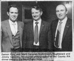 Press cutting. Eamon King, Mark Canavan and Jimmy Canavan