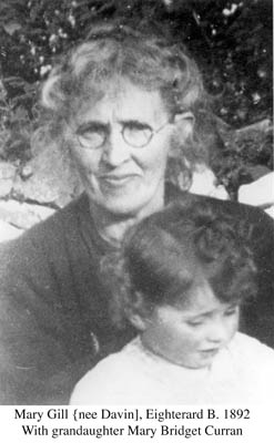 Mary Gill, Eighterard B. 1892 with Granddaughter Mary Bridget Curran