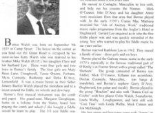 Oughterard Newsletter 1999. Bernie Walsh