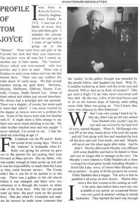 Oughterard Newsletter. Profile of Tom Joyce, Knockillaree
