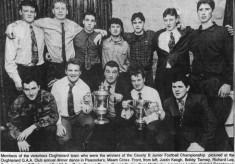Press cutting. 1993. Oughterard football team