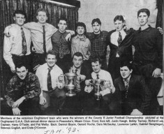 Press cutting. 1993. Oughterard football team