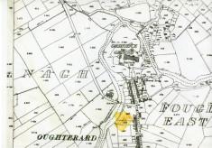 Map 1898. Detail, The Barracks, Camp Street