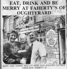 Press cutting 1992. Faherty's Bar, Camp Street