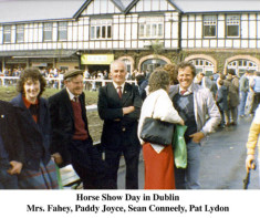 Mrs. Fahey, Paddy Joyce, Sean Connneely and Pat Lydon