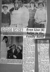 Press cutting 1975. Corrib Hotel