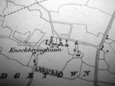 Map c.1800. Detail, Knockbroughaun, Porridgetown
