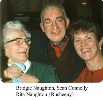 Bridgie Naughton, Sean Conneely and Rita Naughton