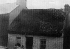 Cottage c.1950. Mary, Roland, Molloy. Nora Walsh now resident {2009}