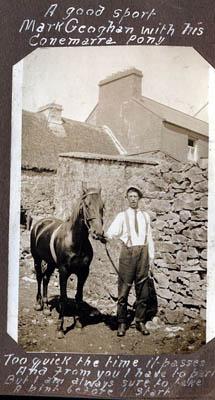 Mark Geoghegan with his Connemara pony