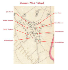 Townland map 1849. Detail Canrawer West