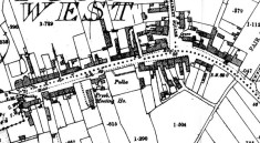 Map 1898. Detail, Oughterard, The Square and Bridge Street