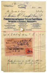 Shop receipt Thomas McDonagh 1915. Thomas Lyons, Tullaboy