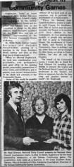 Press cutting 1975. Oughterard Community Games