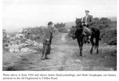 James Healy and Mark Geoghegan on the Old Clifden Road