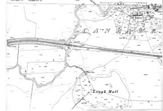 Map 1898. Detail, Canrawer and railway line