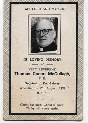 Canon McCullagh, Parish Priest, Oughterard