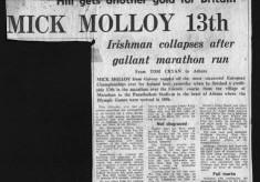 Press cutting. Mick Molloy
