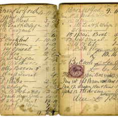 Pages from shop account book 1909