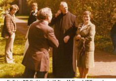 Fr. Eaton, P.P. Oughterard, with Nora McDonagh, Billamore