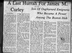Press cutting 1974. The last hurrah for James M. Curley