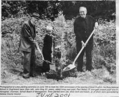 Press cutting 2001. 150th anniversary Boy's N.S. Oughterard