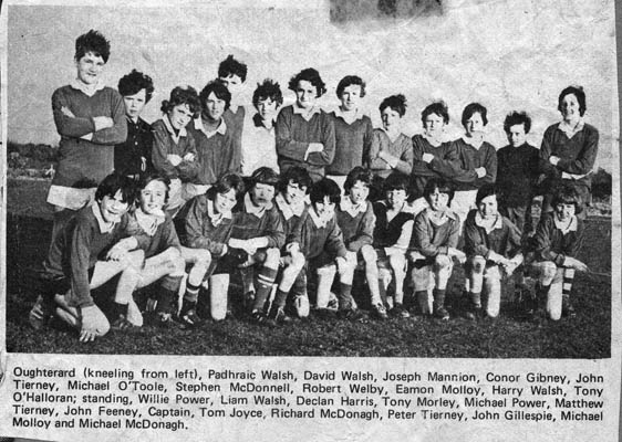 Press cutting c.1980. Oughterard Football team
