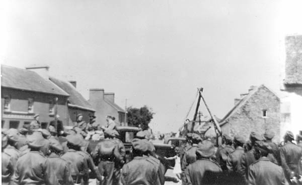 Military Gathering in The Square, Oughterard