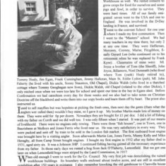 Oughterard Newsletter 1997. Profile of John King, Camp Street