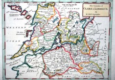 Moll's map of Clare and Limerick 1728